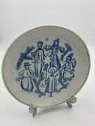 Meissen Christmas Plate St Nick And Snowman