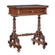 19th Century Carved Walnut Games Table
