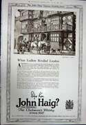 Antique Print Ref.923 1923 Advertisement John Haig Clubmanand039s Scotch Whisky