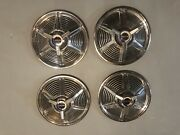 Four 41965 Ford Mustang 14 Spinner Wheel Covers Hubcaps