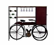 17 X 58.5 X 67.5 Maroon Tricycle Delivery Bar