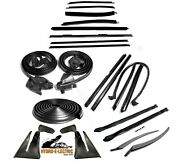 New 1971-1973 Chevrolet Impala And Caprice Convertible 22 Piece Weatherstrip Kit