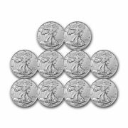 2021 1 Oz American Silver Eagle Bu Type 2- Lot Of 10 Coins