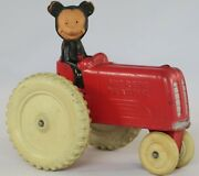 Antique Toy Mickey Mouse Tractor Sun Rubber 1940s Walt Disney Productionsandnbsp