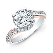 1.00 Carat Round Cut Real Diamond Anniversary Ring 14k White Gold Size Selective