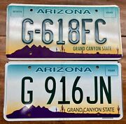 Lot 2 Beautiful Expired, Retired, Desired Arizona Local Police License Plates