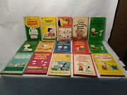 Lot 15 Vtg Charles Schulz Peanuts Comic Books Snoopy Charlie Brown 50s 60s Humor