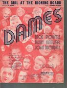 Girl At The Ironing Board 1934 Dames Dick Powell Ruby Keeler Sheet Music