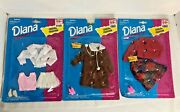 Vintage Lot Of 3 Diana Fashion Doll Outfits For Use With All 11 1/2 Dolls