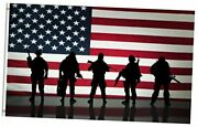 American Flag Veterans Day Soldier Military 5x8 Feet Flag Polyester 5x8 Ft