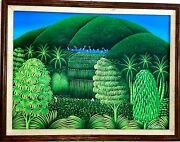 18 X 24 Collectible Little Painting Art By Famous Henry Robert Bresil Haitian