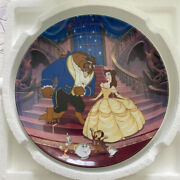 3 Beauty And The Beast, Disney, Bradford Exchange, Knowles, Collector's Plates