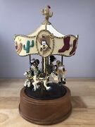 Walt Disney Company Willitts Designs Carousel Music Box Mickey And Friends Vintage