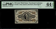 Fr-1253 0.10 Third Issue Fractional Currency - 10 Cent - Graded Pmg 64 Epq