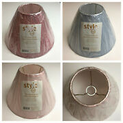 Style 046 Gingham 7.5 Lamp Shade Slip Uno Fitter Choose Pink Blue Red New
