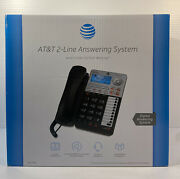 Att 2-line Corded Office Phone With Caller Id/call Waiting Answering By Att