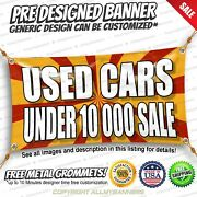 Used Cars Under 10 000 Sale Advertising Vinyl Banner Sign No Cheap Flag