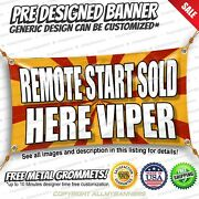 Remote Start Sold Here Viper Advertising Vinyl Banner Sign No Cheap Flag