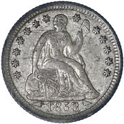 1853 Seated Liberty Half Dime 90 Silver About Uncirculated Au See Pics G684