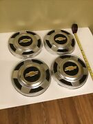 73-80 Chevy Yellow Bowtie 10.5 Hubcap Center Caps Wheel Cover Dog Dish