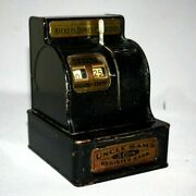 Antique 1935 Uncle Samandrsquos 3 Coin Register Bank Durable Toy And Novelty Corp Usa