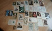 Vintage Lot Of Prayer Cards And Holy Pictures St. Rita Relic Blessed Rosary