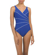 Miraclesuit Horizon One Piece Swimsuit Sapphire Blue 12 14 16 Msrp 150 New