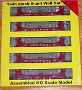 A-line 47607-01 Twin Stack Container Car 5-pack Soo Line 54569