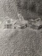 Avon 1994 Collectible Clear Lead Crystal Cat's Kitty Figurines Set Of 3