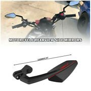 2x Rear View Side Mirrors Handlebars Black Fit For Motorcycle Scooter Dirt Bike
