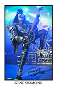 Gene Simmons Signed 12x18 Inch Photograph Poster- Top Quality Kiss