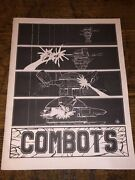 Vintage Fasa Combots Space Combat Robots Game Instruction Manual Only