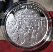 Donald Trump 1 Oz .999 Silver Round Save America Rally Jan 6th 2021 Limited 3000