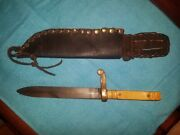 Ww2 World War U.s. Fighting Trench Knife Etched 1st Us M3 Army Not German D-day