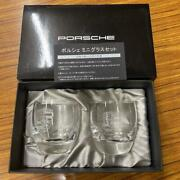 Porsche Mini Drinking Glass Set Novelty With Box Emblem 6cm Not Sold In Stores