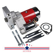 Red High Torque Mini Starter Small And Big Block W/shims For Chevy 153 168 Tooth