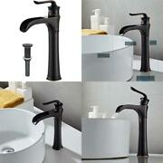 Farmhouse Waterfall Bathroom Faucet For Vessel Sink Single Hole Bowl Mixer Tap,