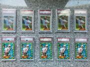 51986 Topps 161 - Jerry Rice Rc - 5 Cards Psa 8 - Nm/mt Hof Rc Goat Invest