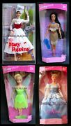 Mary Poppins Barbie Doll Pocahontas Tinker Bell Cinderella Disney Store Lot 4