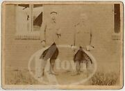 French Wwi Soldiers 144th Infantry Uniforms Antique Military Photo On Board