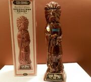 Vintage 1968 Ezra Brooks Real Sippin' Whiskey Cigar Store Indian Empty Decanter