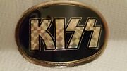 Kiss Belt Buckle 1976 W/ Tags And Kiss T-shirt Large Lot
