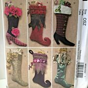 Mccall's Crafts 5261 Christmas Stockings-victorian Whimsical Pattern Uncut