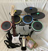 Rock Band 4 Xbox One Band-in-a-box Bundle + Pro Cymbal Kit Guitar Drum Game