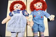 Applause Raggedy Ann And Andy 19 Vintage Set. 1993 Dolls With Coa