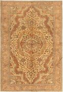 Vintage Hand-knotted Carpet 6and0397 X 9and0395 Traditional Oriental Wool Area Rug