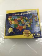 Milton Bradley/hasbro-puzzle Map Of United States- Pieces Shaped As States-new