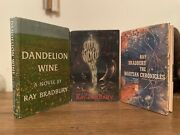 Ray Bradbury Dandelion, Something Wicked And Martian Chronicles, 1st/1sts, Signed