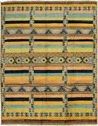 Hand-knotted 9and0394 X 12and0390 Shalimar Casual Stripes Transitional Wool Rug