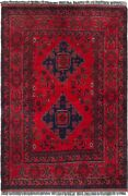 Vintage Hand-knotted Carpet 3and0394 X 4and03911 Traditional Oriental Wool Area Rug